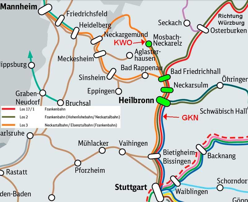 Neckarradweg Karte.Bündnis Neckar Castorfrei Landkarten Bahnverkehr Und Neckartalradweg